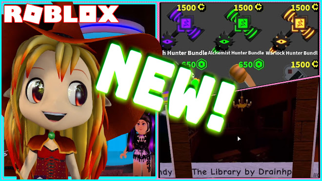 ROBLOX FLEE THE FACILITY! NEW LIBRARY MAP and BUYING THE NEW HALLOWEEN WITCH HUNTER BUNDLE!