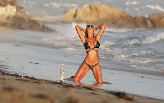 Charlie Riina   Perfect Figure Huge   sin Tiny Bikini  Modeling for 138 Water Very