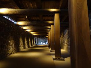 熊本城の闇り通路