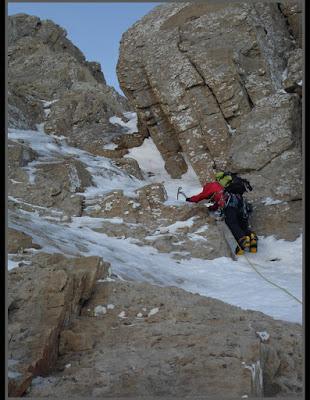 Entrando al corredor Noreste en el Bisaurín