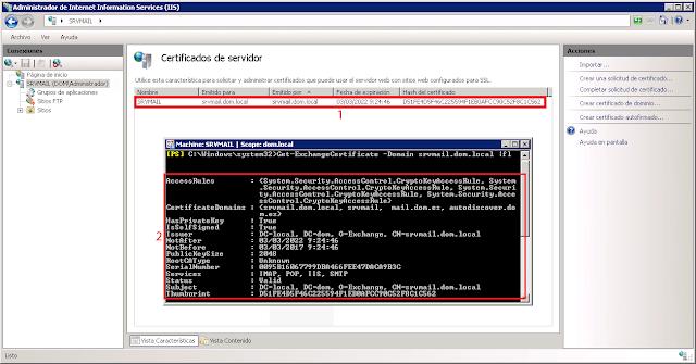 Microsoft Exchange 2007: Renovar certificado Autofirmado. Parte 1