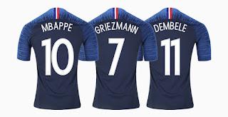 Jersey Home dan Away Perancis Piala Dunia 2018