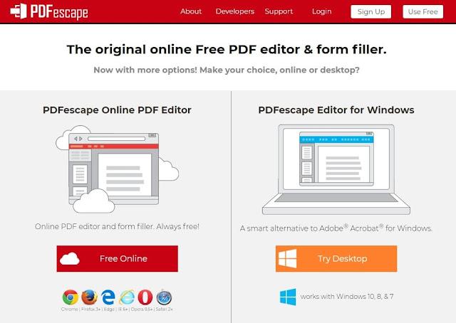برنامج PDFescape