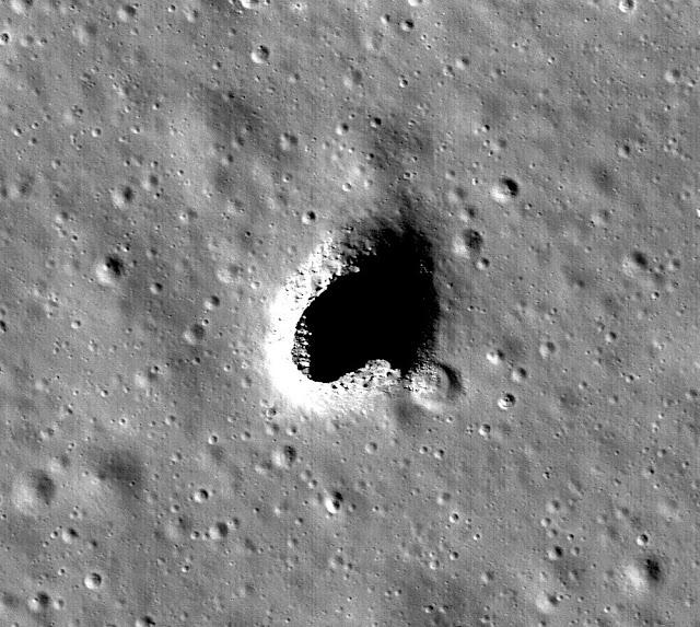 Khu vực Đồi Marius, nơi được nhóm nghiên cứu của JAXA xác định là có đường hầm sâu bên dưới. Hình ảnh: NASA Goddard.