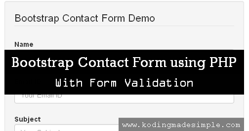 Twitter Bootstrap Contact Form Tutorial Using Php With Validations