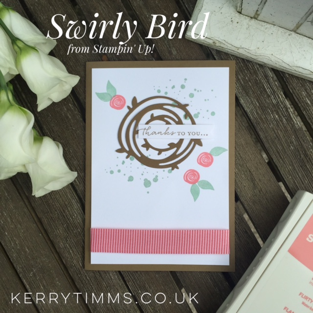 swirly bird stamp set kerry timms cardmaking scrapbooking papercraft class gloucester handmade cared thankyou craft create creative crafts hobby female wedding invitations bespoke