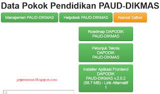 dapo.paud-dikmas.kemdikbud.go.id Alamat Baru Dapodik PAUD