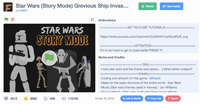 Scratch Project Sharing: Star Wars (Story Mode) by FUNUT