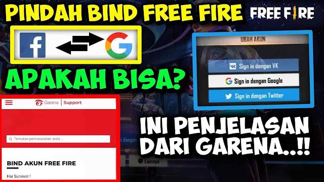 Cara Unbind dan Memindahkan Akun Free Fire Dari Fb ke Google, Ini Kata Garena