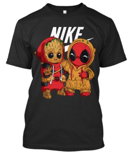Deadpool And Baby Groot Nike T-Shirt Hoodie Sweatshirt Sweater. GET IT HERE