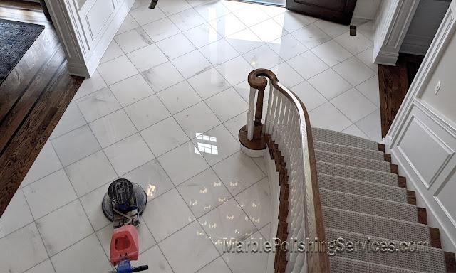 Restoration of marble floor in NJ