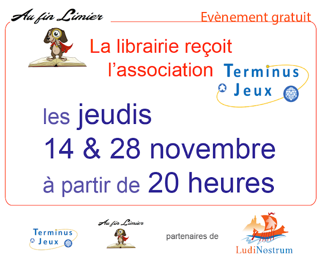 Affiche de Novembre en Jeux avec Terminus Jeux au Fin Limier