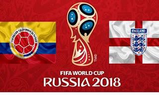 انتهت مباراه انجلترا وكولومبيا اليوم 7-3-2018 الدور ال16 بفوز انجلترا برجلات الترجيح بعد التعادل 1 - 1