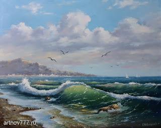 Картина. Море и чайки