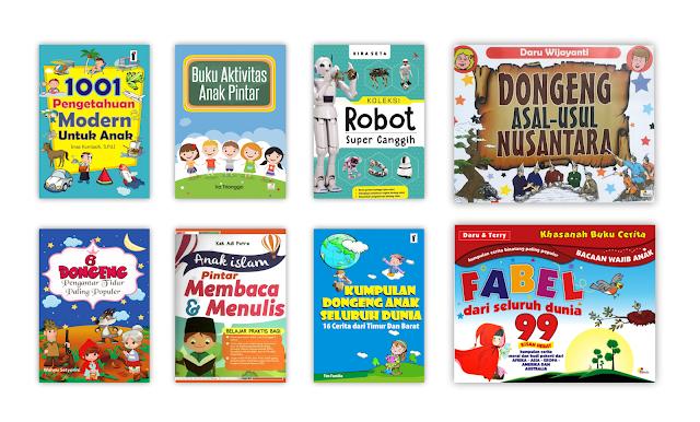 Buku Cerita dan Pengetahuan Anak-anak Untuk Koleksi Perpustakaan Desa