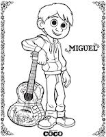Disney•Pixar's Coco Colouring Page - Miguel