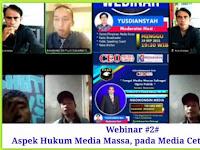 CEO GROUP Gelar Webinar via Zoom Aspek Hukum Media Massa pada Media Cetak dan Online