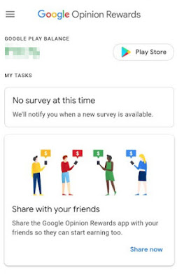 جوجل التطبيق مكافأة الرأي لكسب UC لعبة PUBG