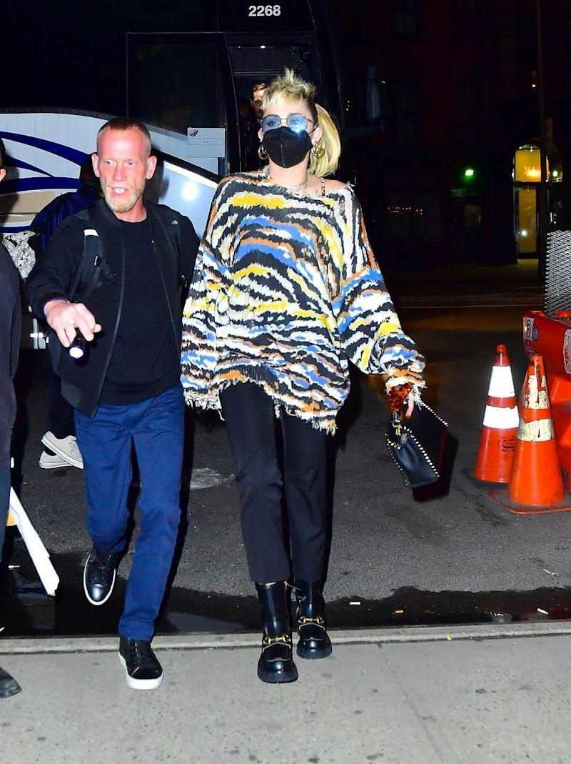 Miley Cyrus Spotted While leaving SNL Afterparty in New York 8 May-2021