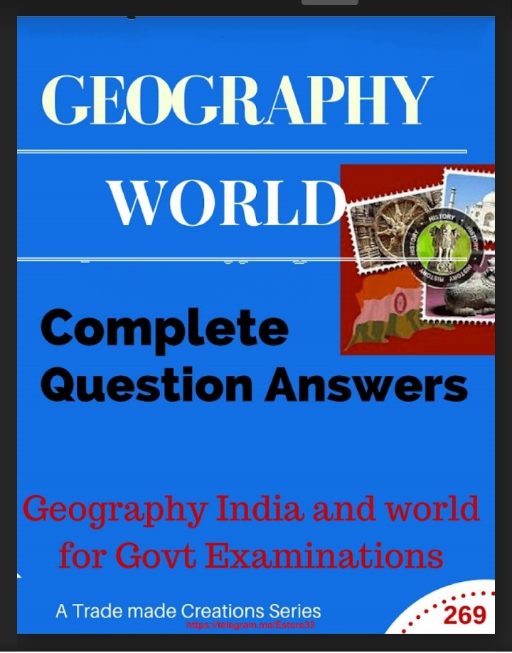Indian and World Geography Complete Question-Answers PDF ...