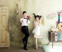 contoh foto prewedding Korean style