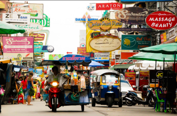 wisata thailand, khao san road