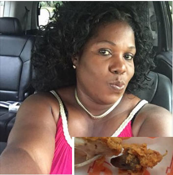 Photos: Woman served fried rat when she ordered fried chicken at Popeyes fast food