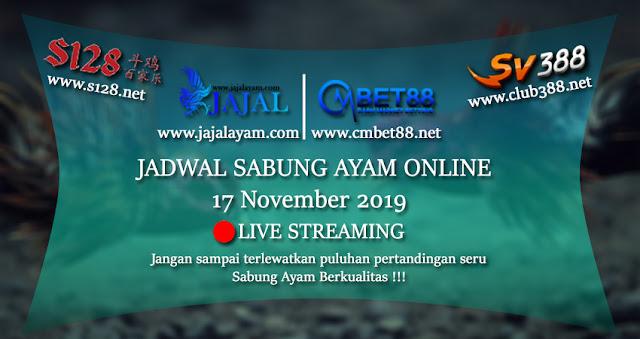 Jadwal Sabung Ayam S128 Dan Sv388 17 November 2019