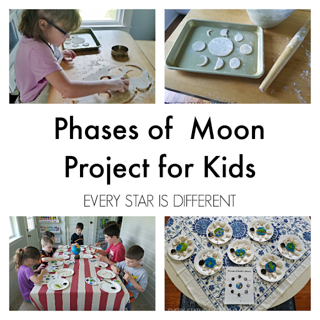 Phases of the Moon Project for Kids