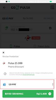 cara membeli pulsa di aplikasi gojek