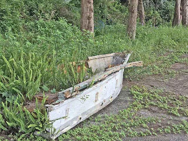abandoned, boat, Kin Town, Okinawa, planter