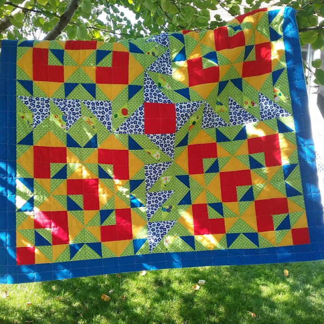 Fresh and wild | Double Windmill Quilt pattern