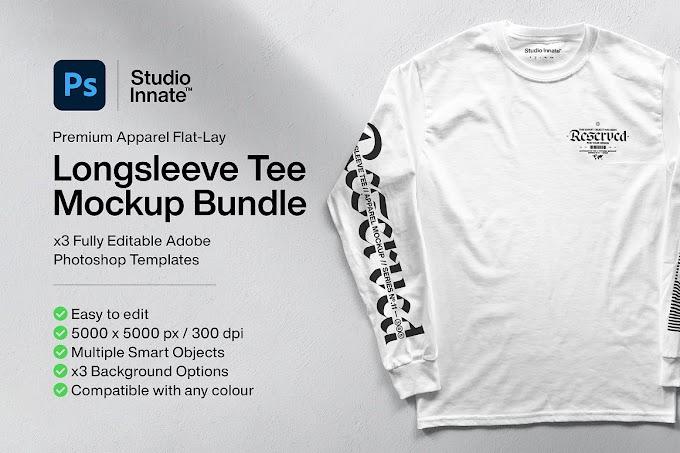 Long Sleeve Tee - Mockup Bundle[Photoshop][5183065]