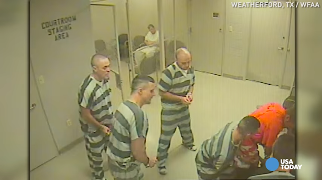 Inmates break free from cell to help ill jailer