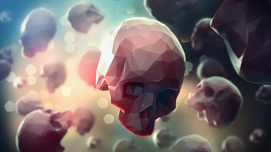 Skull, Digital Art, Abstract, Low Poly, 4K, #49