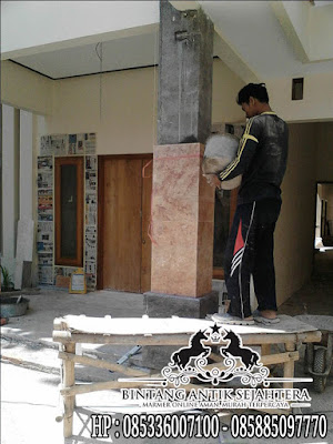 Pembuatan pilar marmer