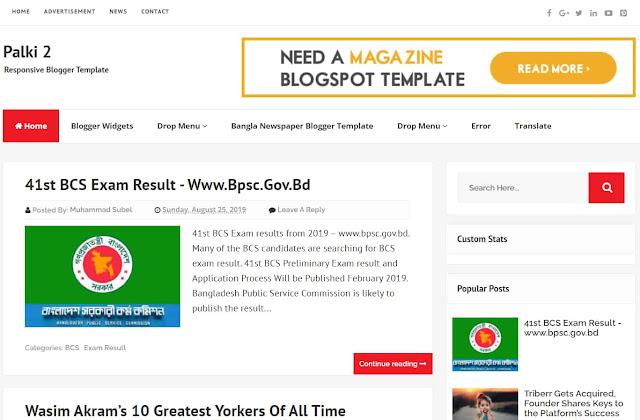 Palki 2 Responsive Blogging Template