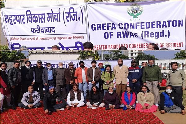 greater-faridabad-nagar-nigam-demand-by-activists-news
