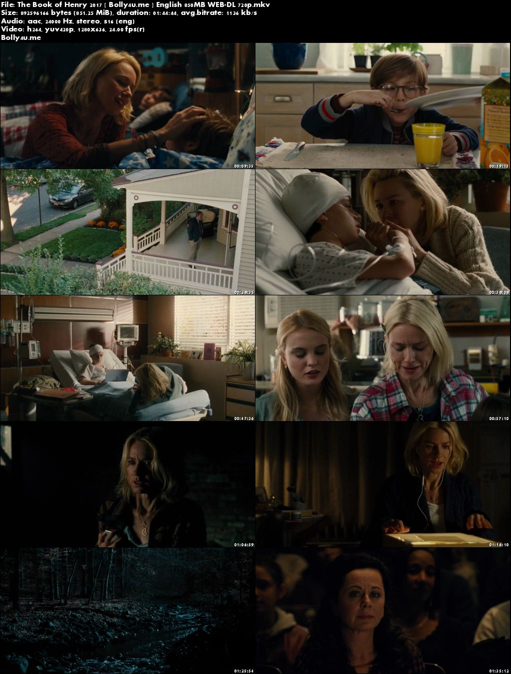 The Book of Henry 2017 WEB-DL 850MB English 720p