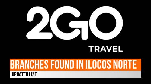 LIST: 2GO Travel Outlets/Branches - Ilocos Norte 2020