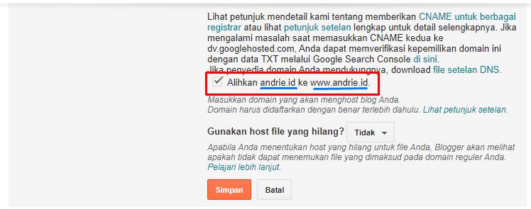 Pengalihan Domain Non WWW ke Domain WWW