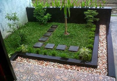 taman rumah minimalis mini untuk rumah type 45