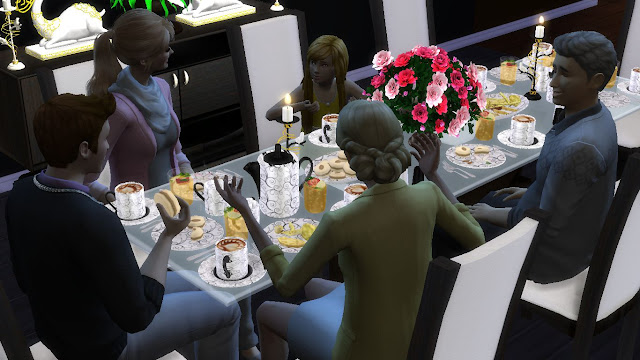 sims 4 cc dining room set