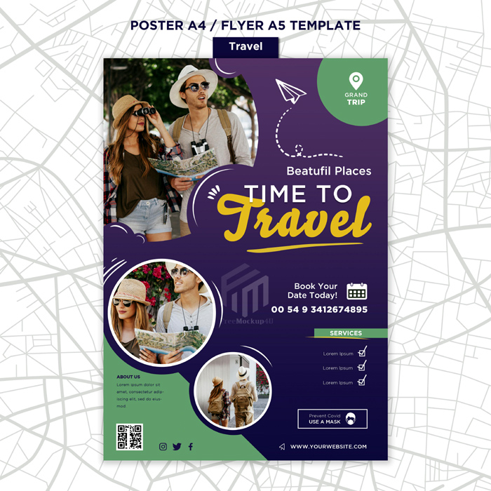 Travelling Print Template With Photo
