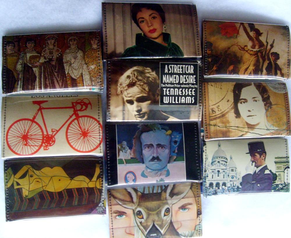 refabulous Connie Crawley, sewist, designer, artist, paperback novel wallet, DIY