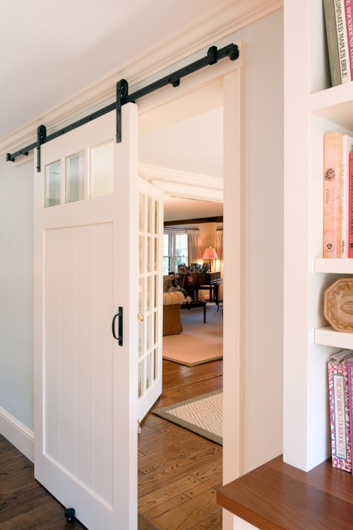 loft & cottage: still not over sliding barn doors