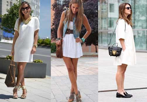 que zapato combinar con el vestido blanco