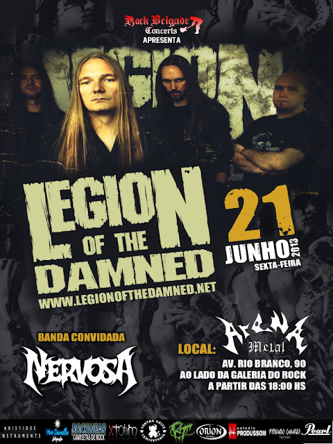 Legion of the damned no brasil