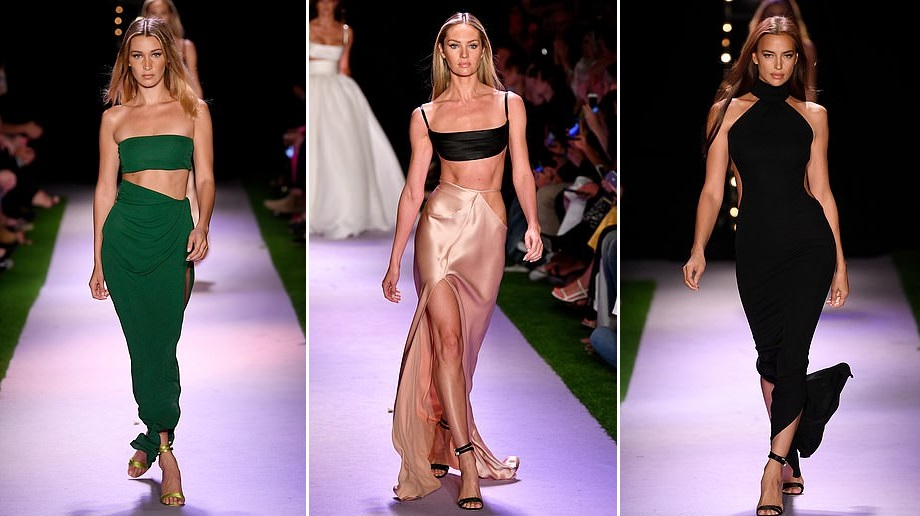Candice, Bella and Irina sizzle on the Brandon Maxwell NYFW SS2020 Runway