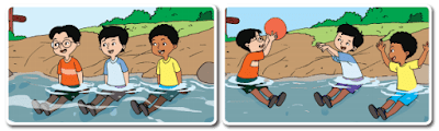 Udin, Beni, dan Edo saling mengoper bola www.simplenews.me